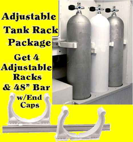Scuba Tank Rack adjustable boat storage roll control Max Rax racks