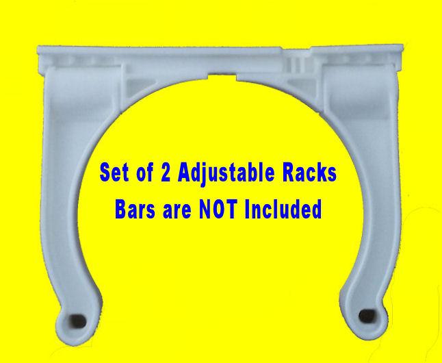 "Roll Control PVC 20/"" Track Bar Scuba Tank Rack Adjustable Rod Cup cleat holder"