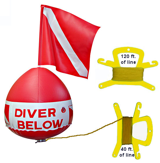 Diver Below Inflatable Signal Float Dive Flag Red Bouy Ball